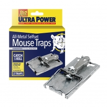 Ultra Power All-Metal Selfset Mouse Traps - Twin Pack