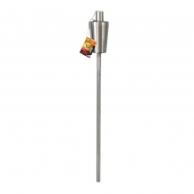 Stainless Steel Garden Torch - 1.1 metres