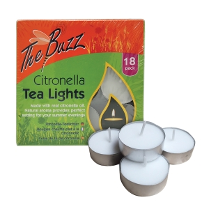 Citronella Tea Lights - 18-pack