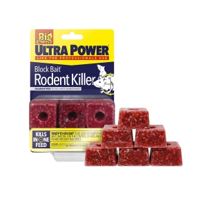 Ultra Power Block Bait² Rodent Killer - 6x20g Blocks